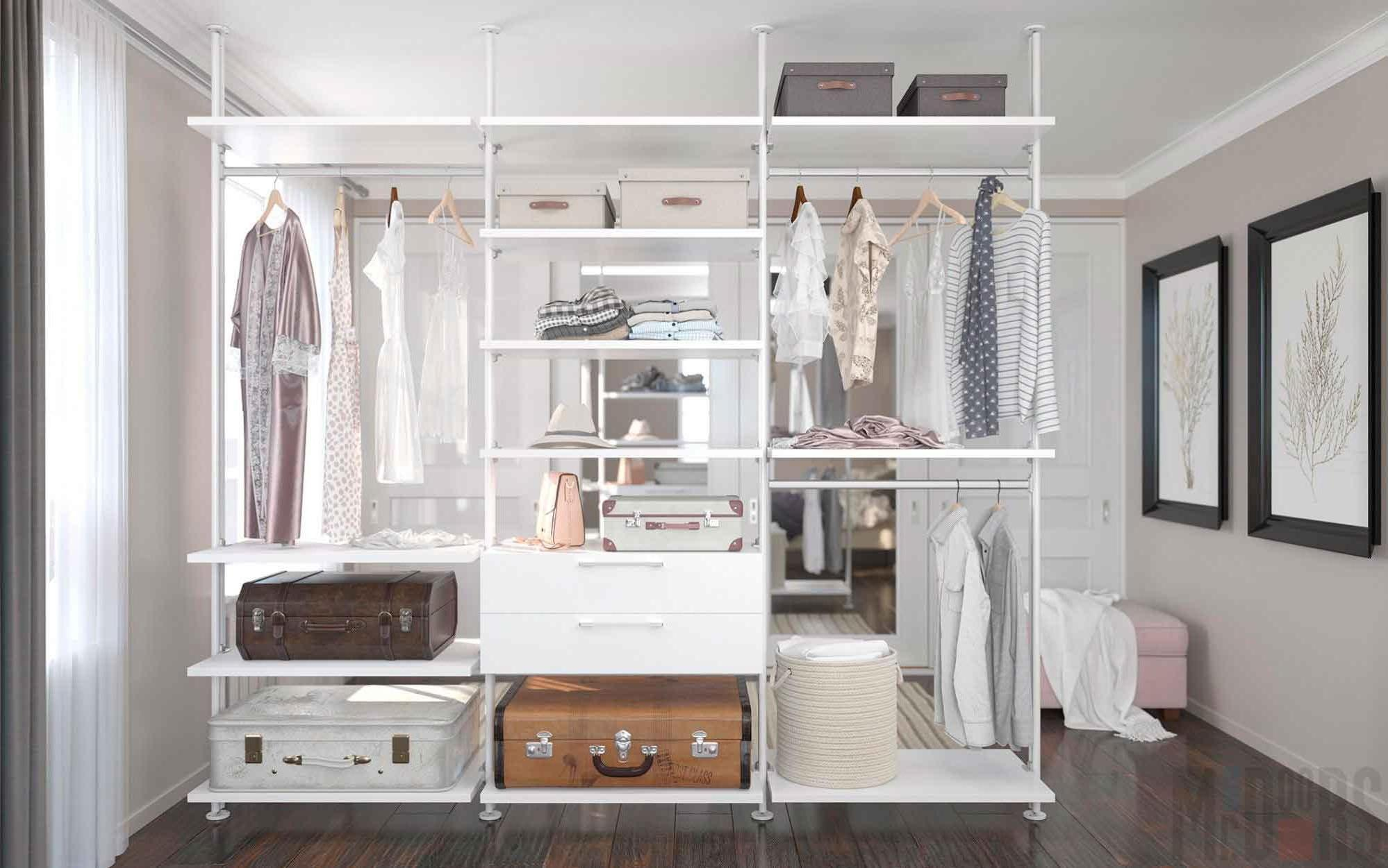 Design of a compact dressing room for a small room