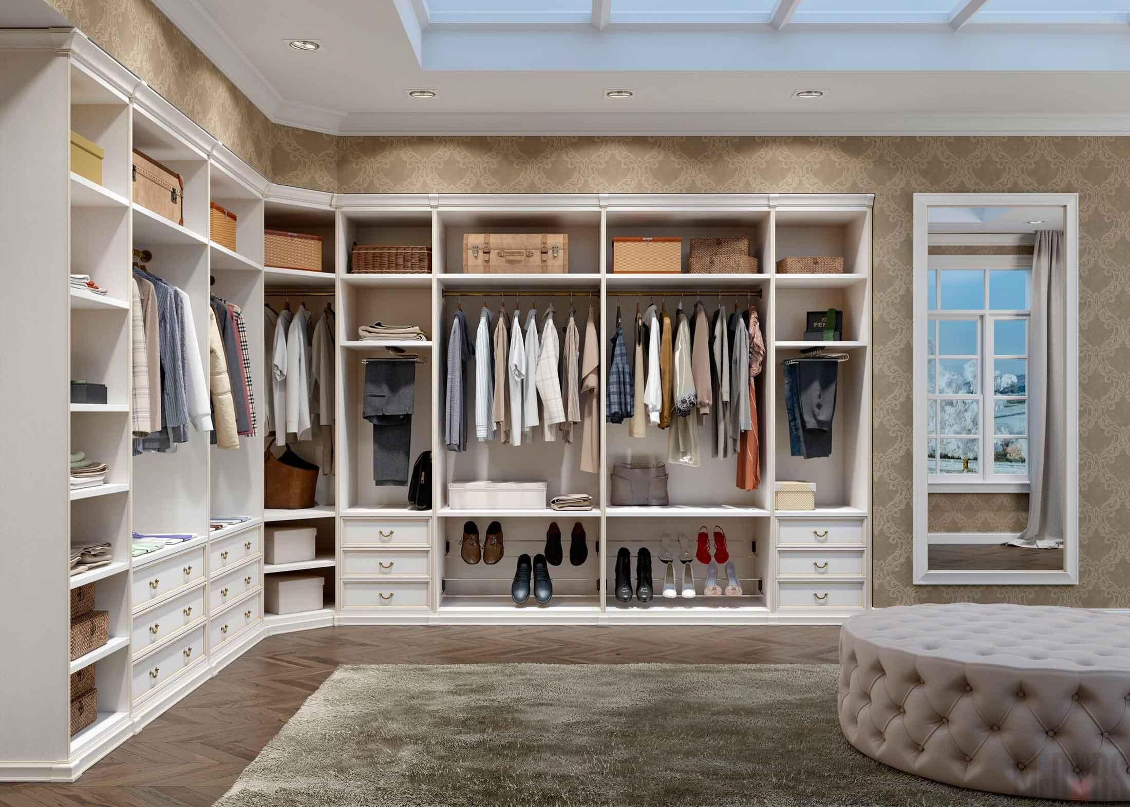 Disposition of a spacious dressing room