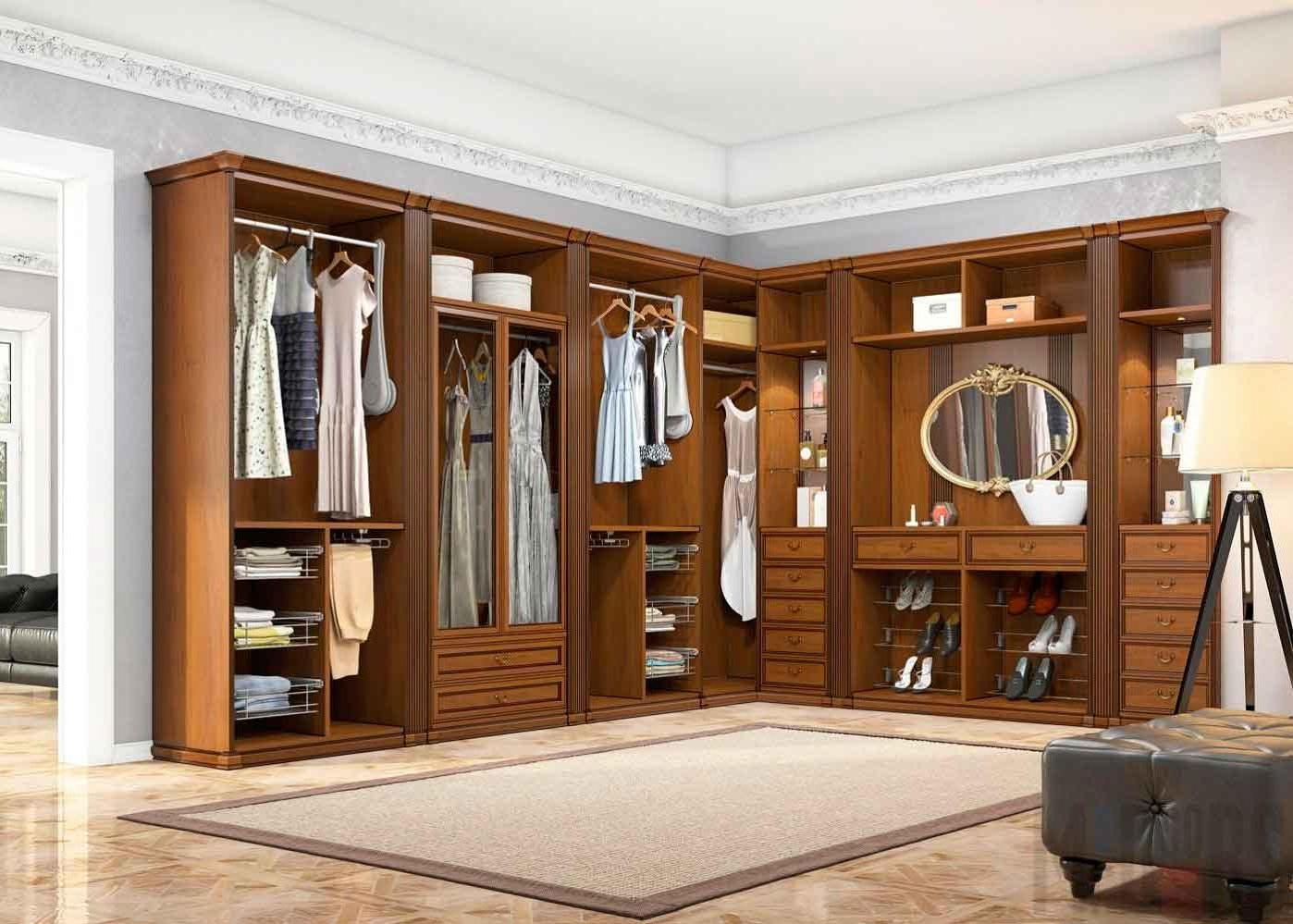 Interior classic dressing room in classic style