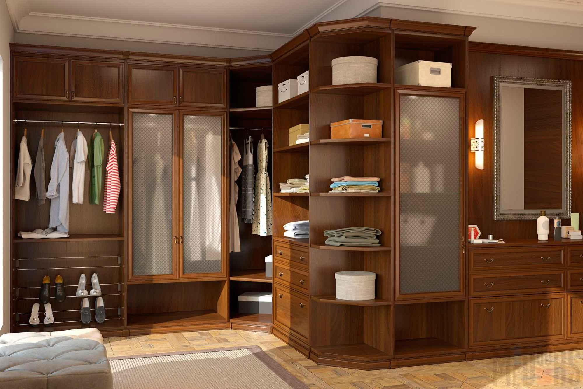 Interior design classic dressing room