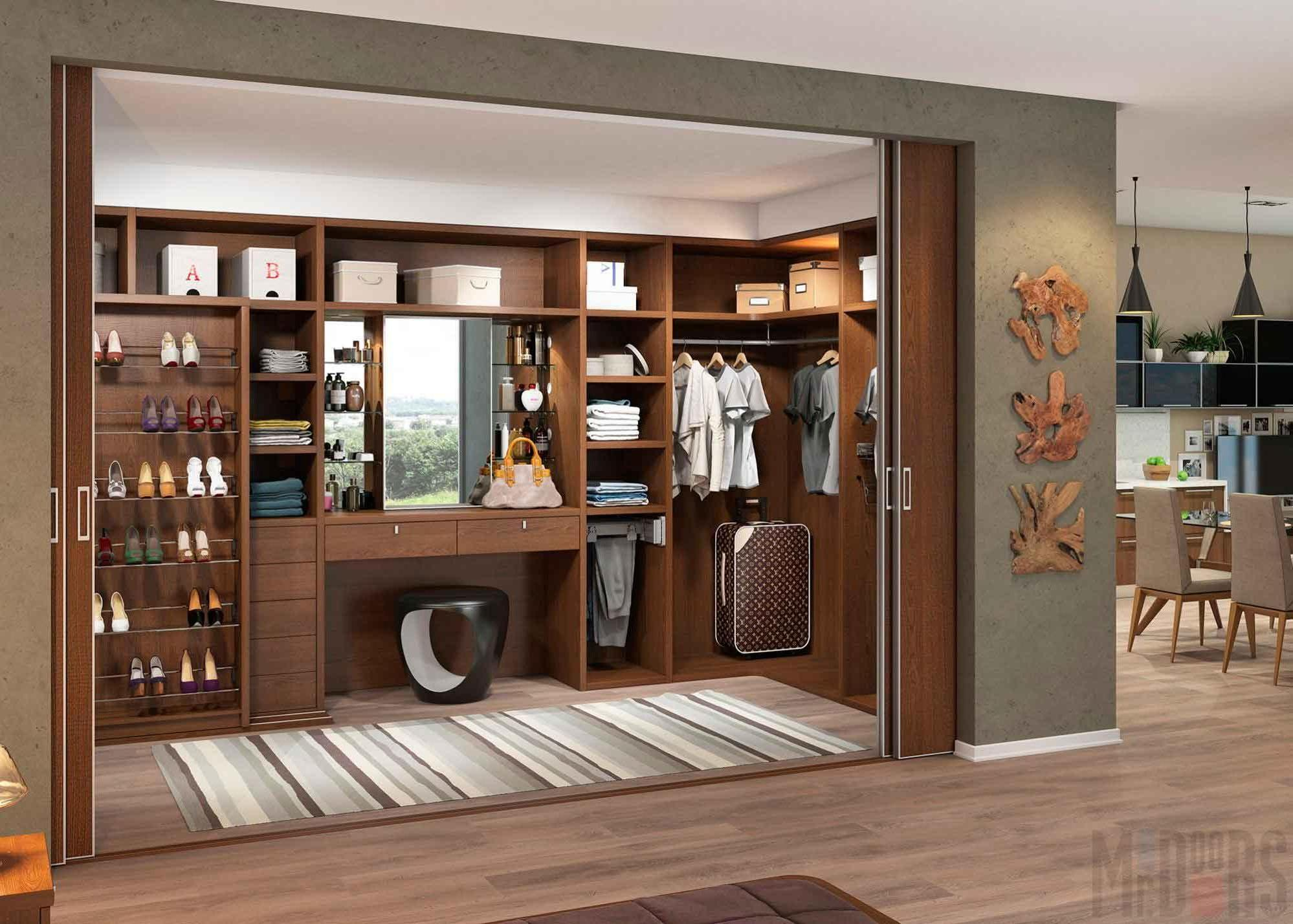 Interior dressing room in the style of Italian modern