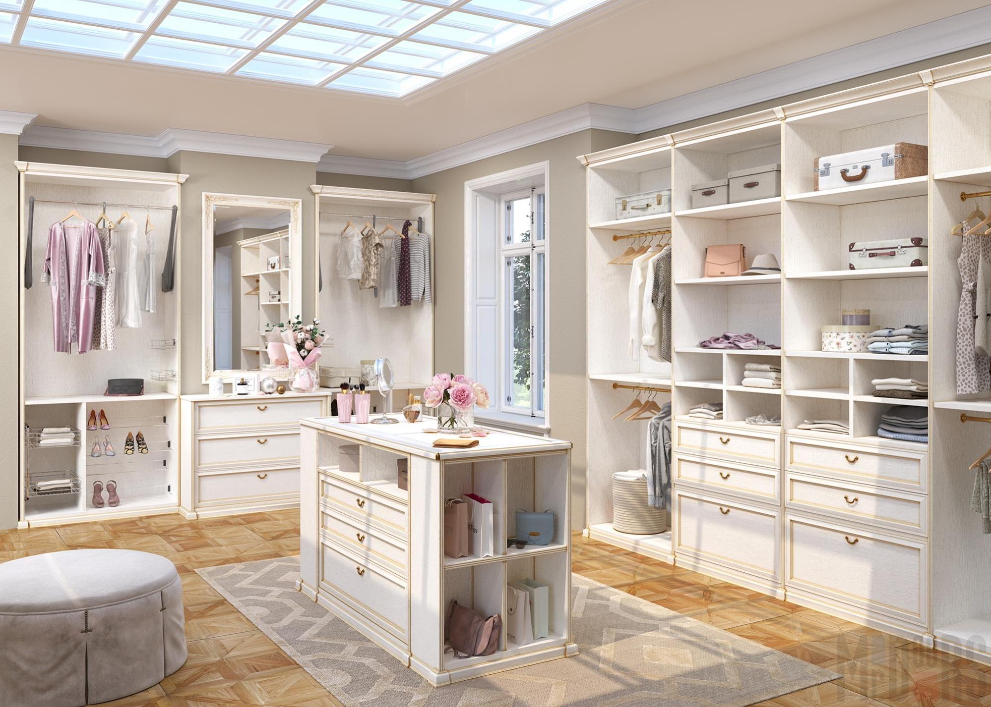 Interior light classic dressing room