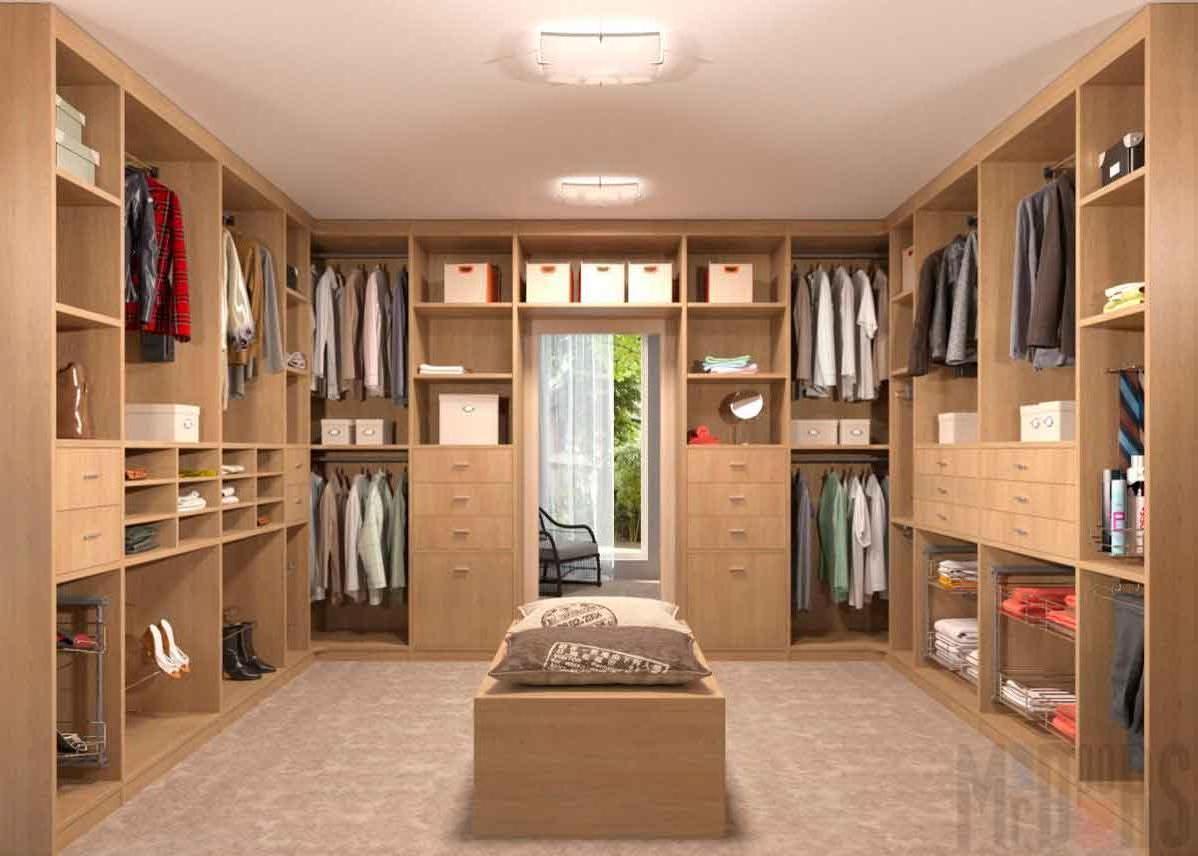 Layout wardrobe in the attic
