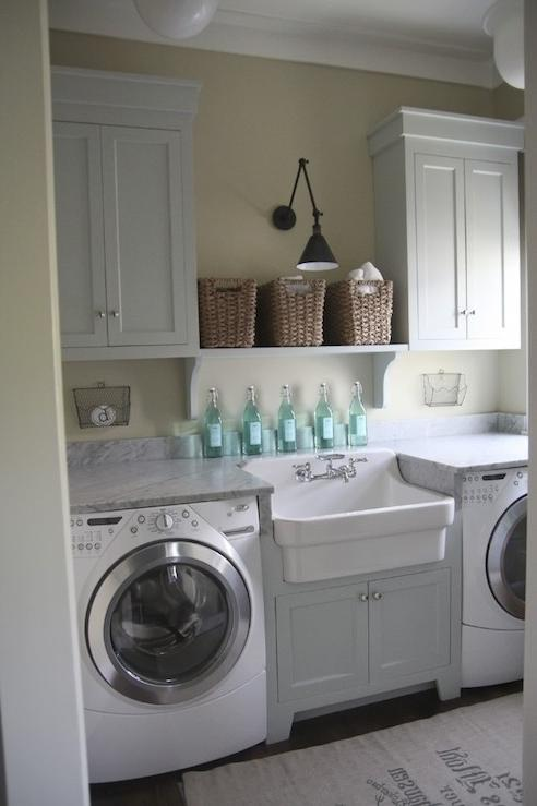 White color is an ideal option for any laundry