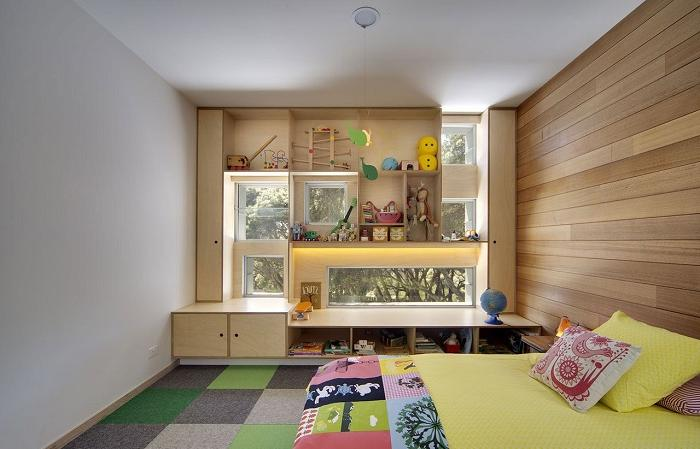 children's window seat with storage
