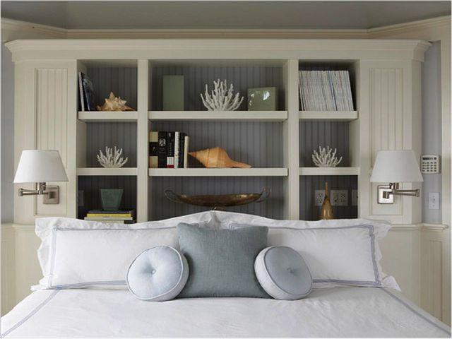 diy headboard ideas with shelves