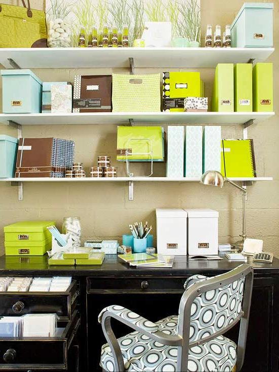 diy home office organization ideas