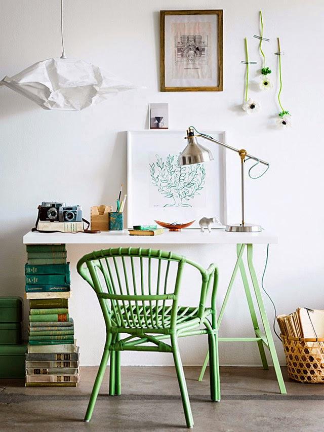 ergonomic home office with few shelves