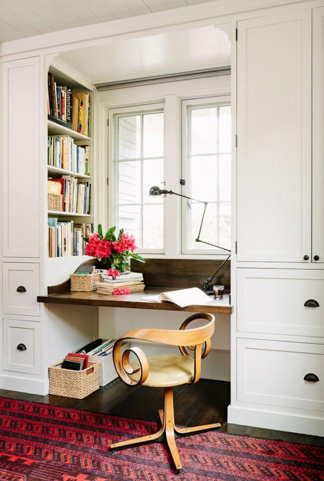 home office organization bookshelf
