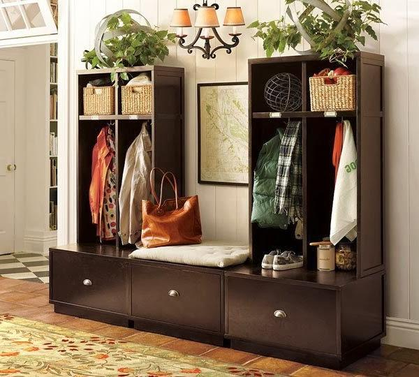 small hallway entry storage