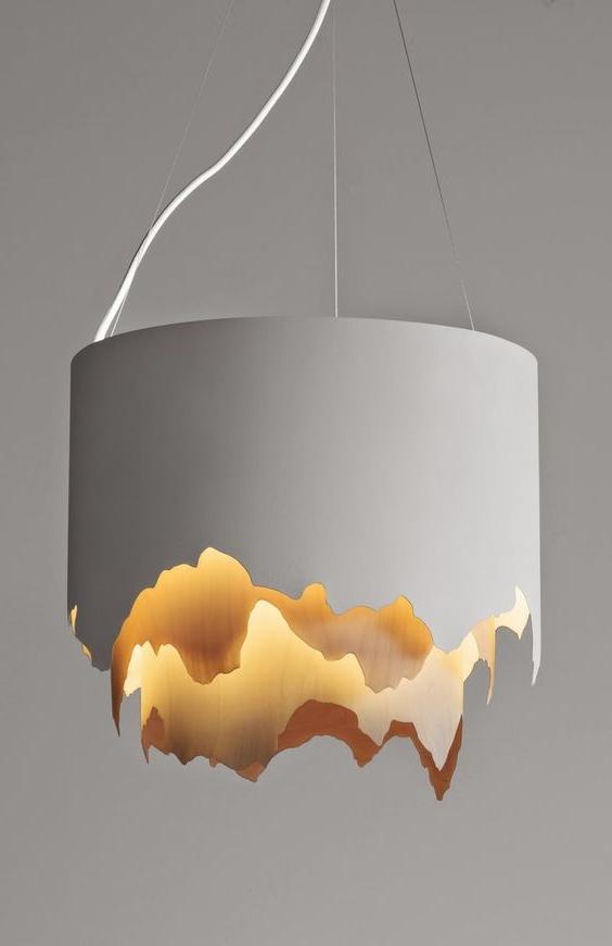 DIY do-it-yourself ceiling pendant lamp.