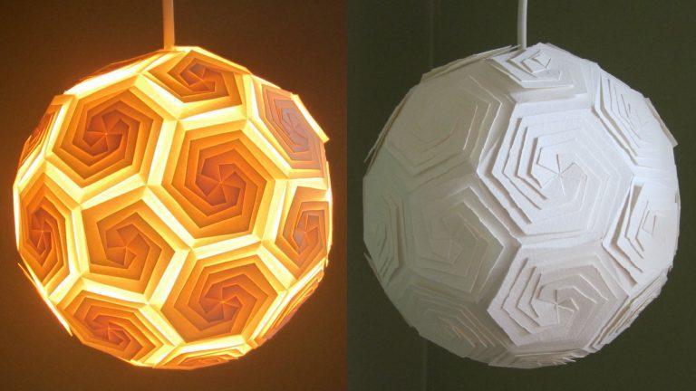 DIY pendant lamp made of paper