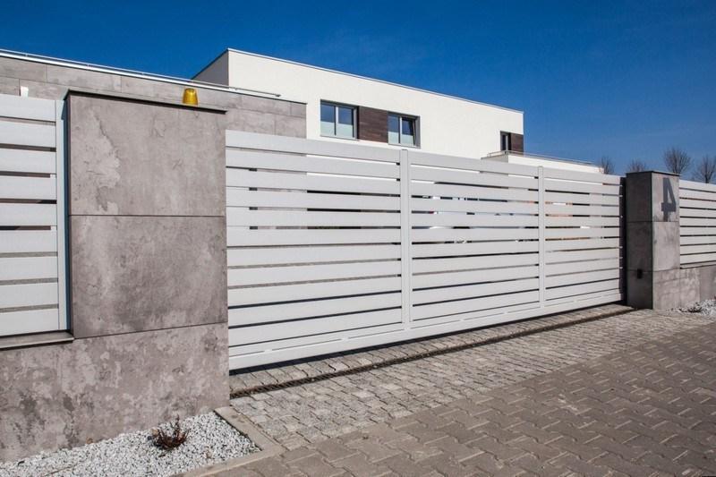 Sliding aluminum gates