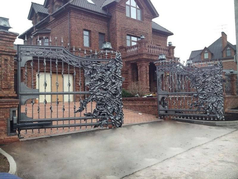 Swing forged gates