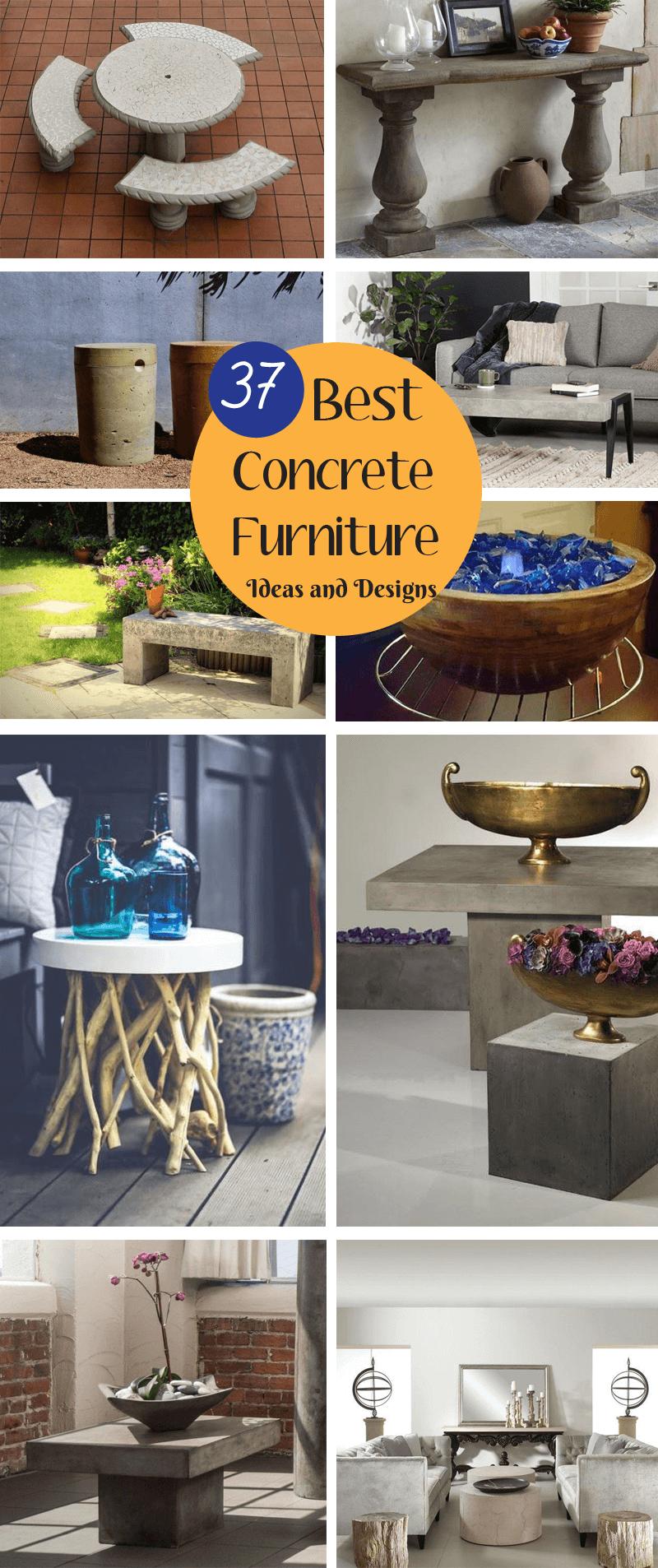 best concrete furniture ideas and designs