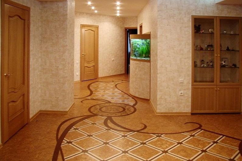 Cork floor in the hallway