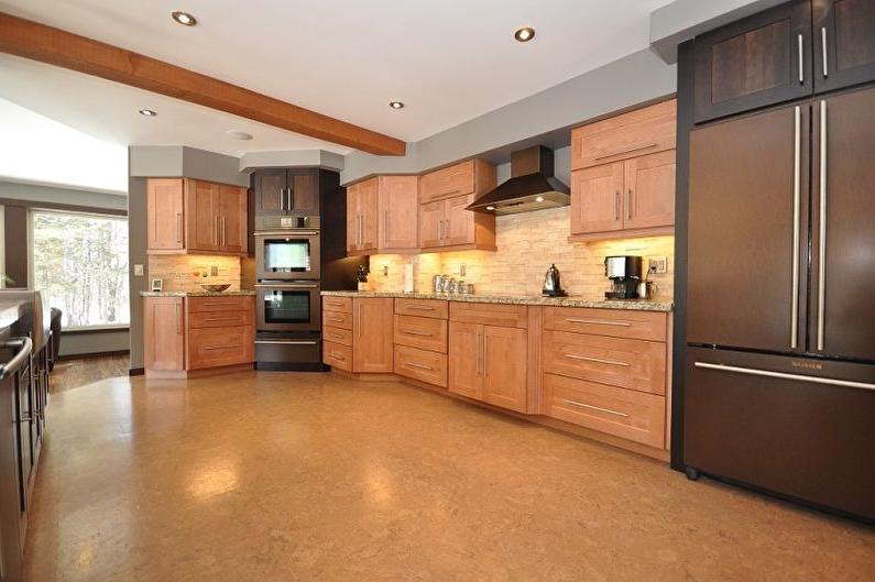 Cork floor in the kitchen