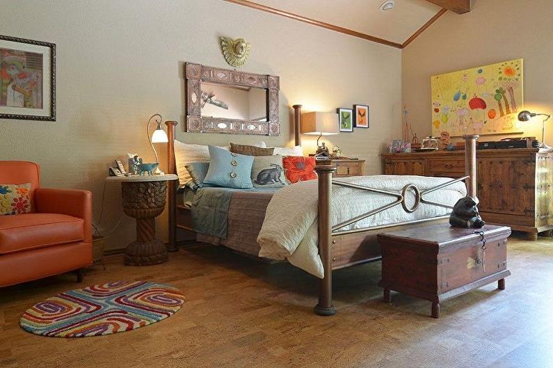 Cork flooring in the bedroom