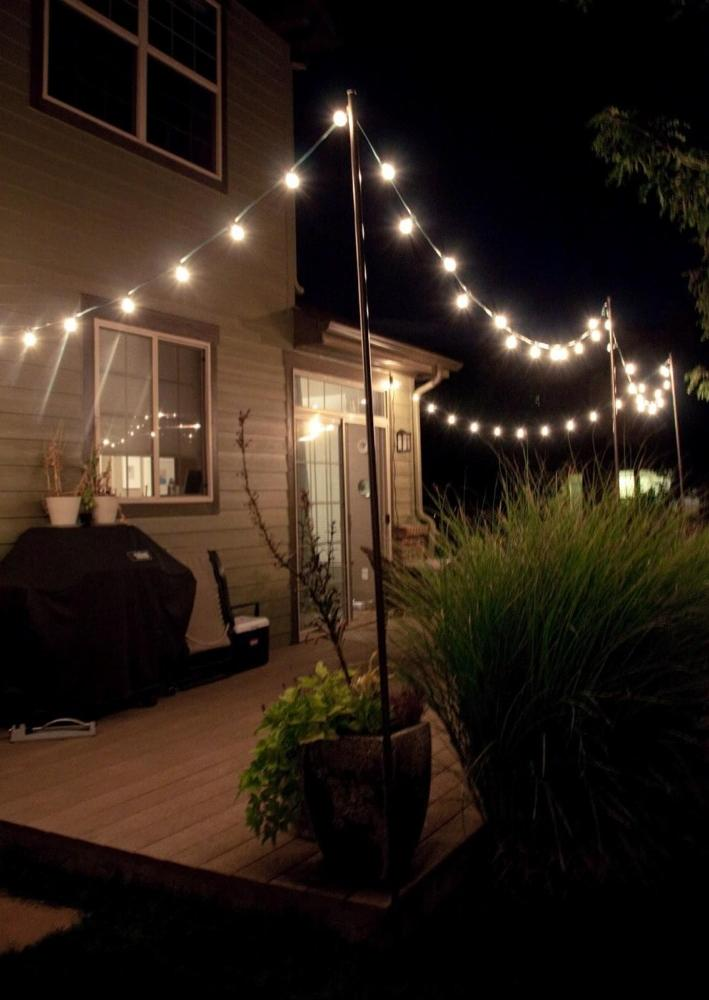 Country house terrace lighting