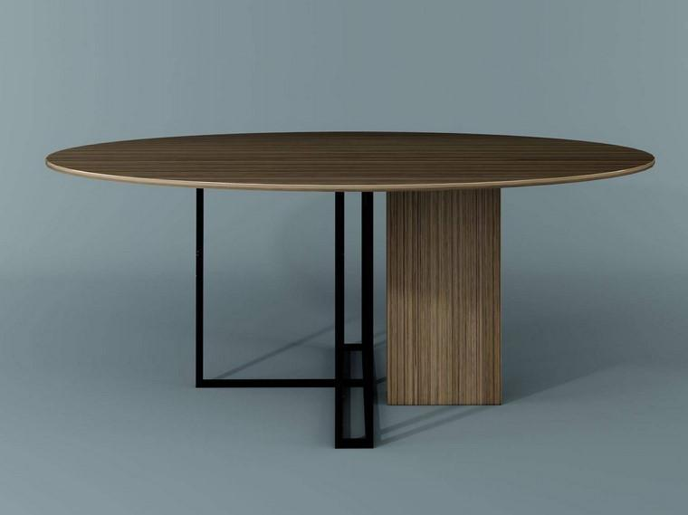Dark Wood Modern Table