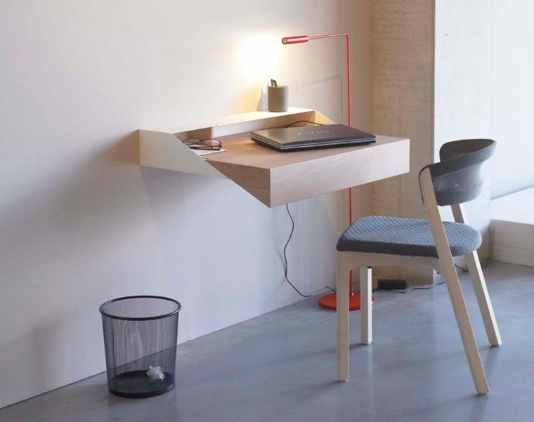 Floating desk table