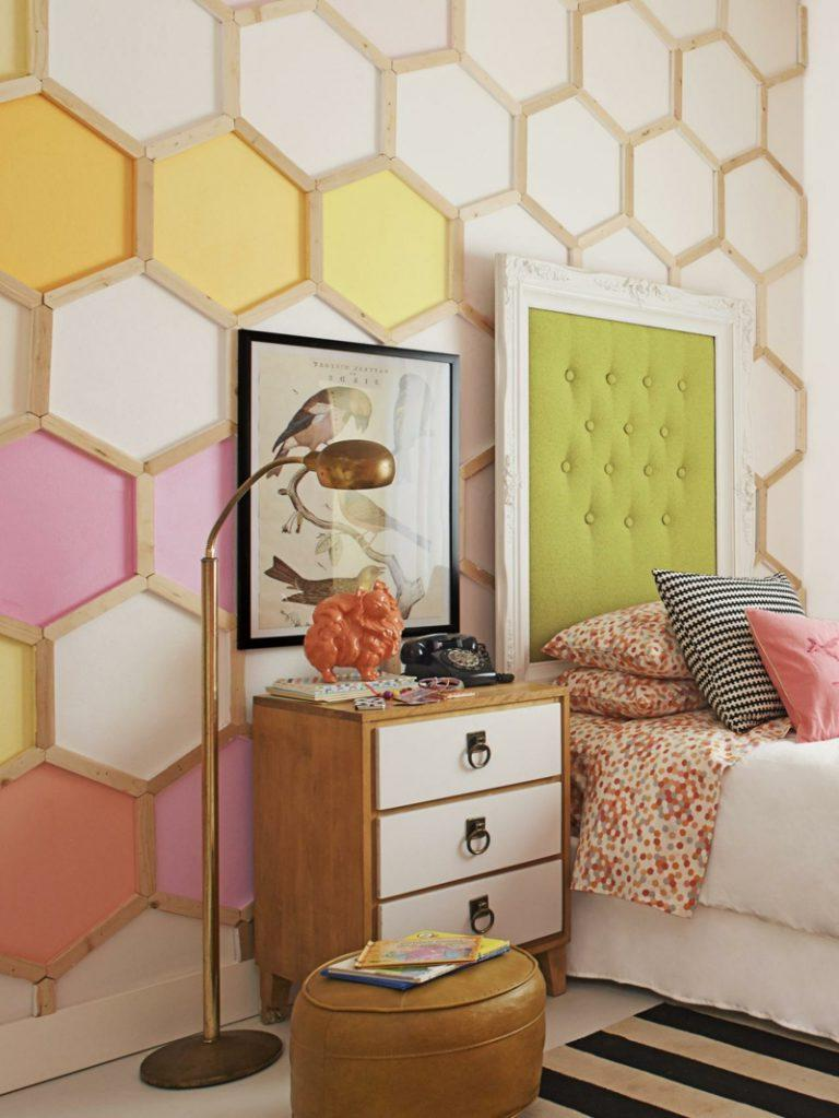 Honeycomb pattern for wall decoration