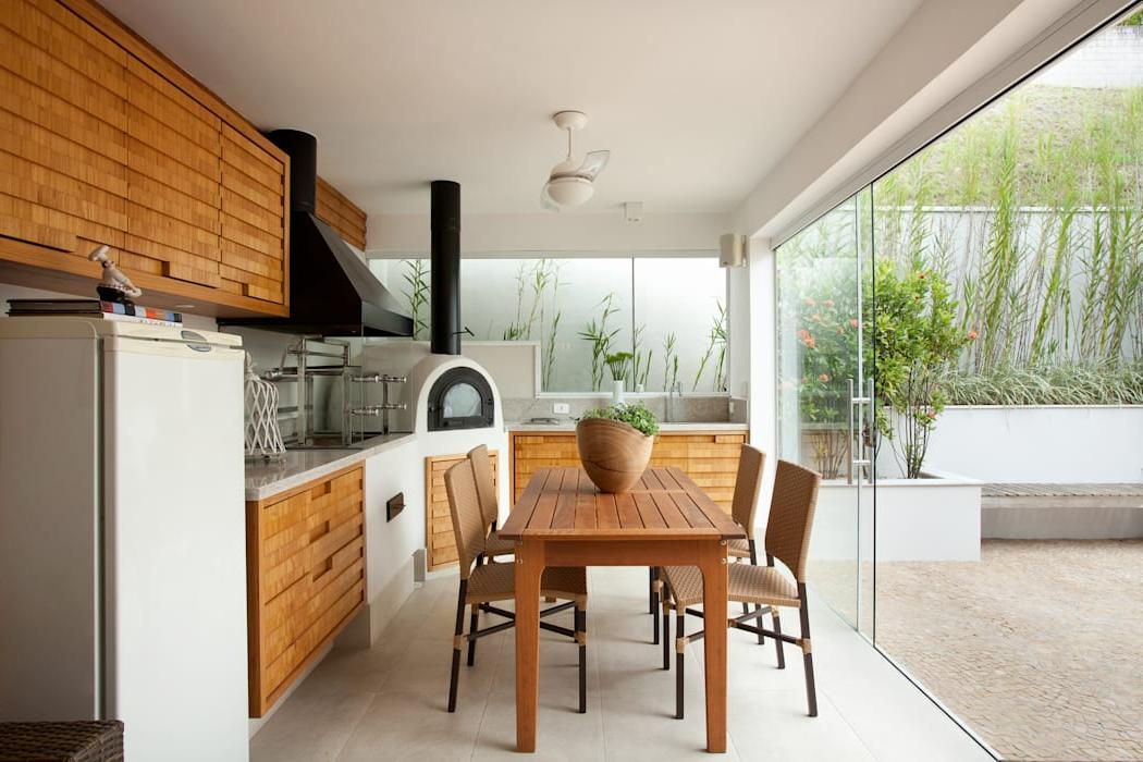 Kitchen and patio together