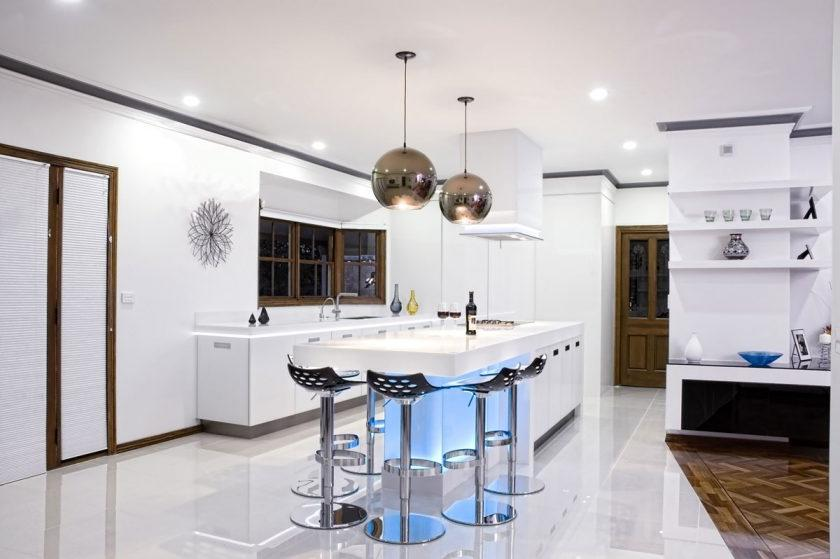 Kitchen lights help lay the foundation for a comfortable meal