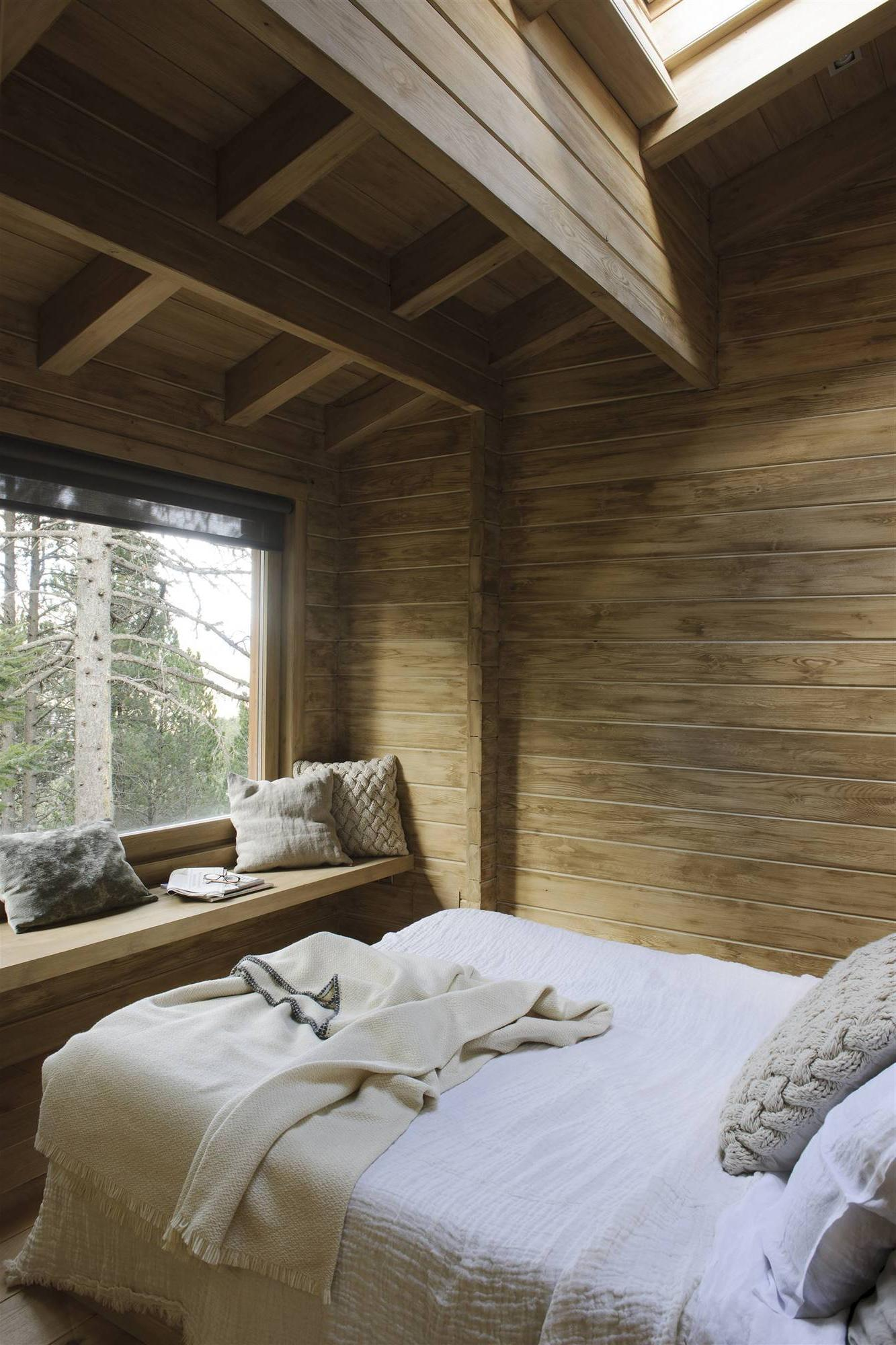 RUSTIC BEDROOM WITH VIEWS FROM THE BED