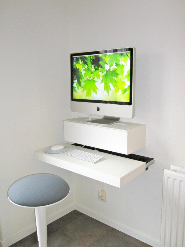 Small and stylish wall table