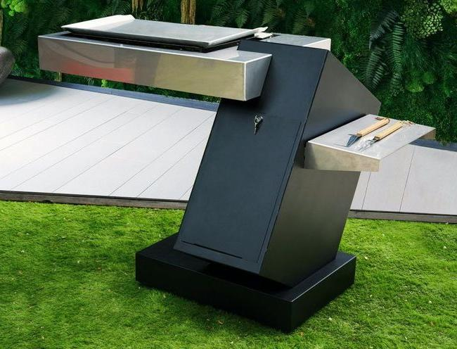 Stylish and comfortable mobile barbecue