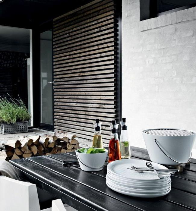 Stylish table barbecue fits beautifully into your interior