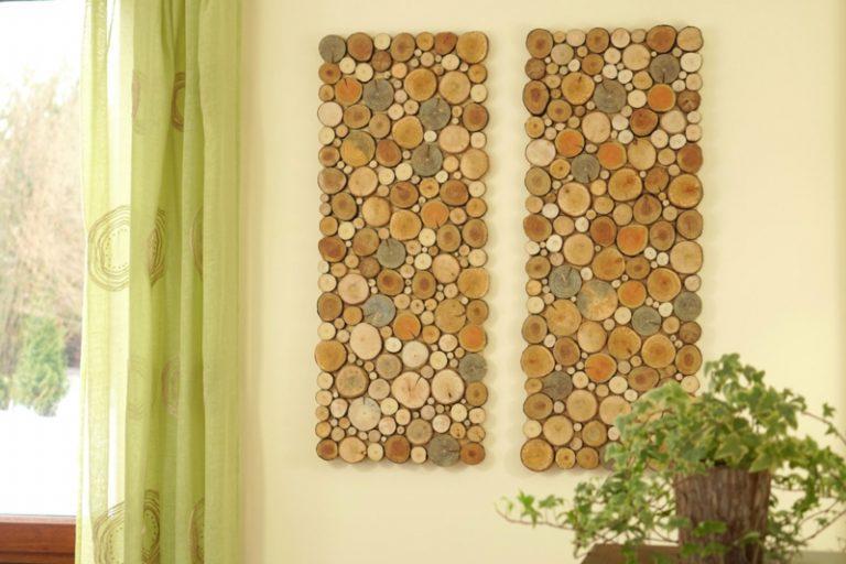 Wall decor ideas from wood cuts