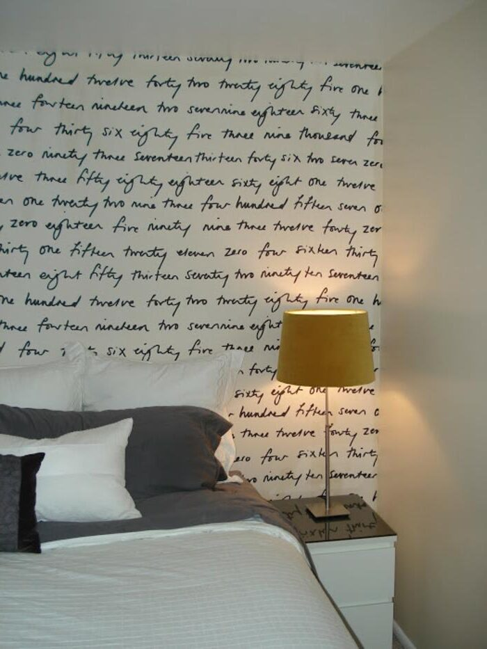 Write positive thoughts right on the wall