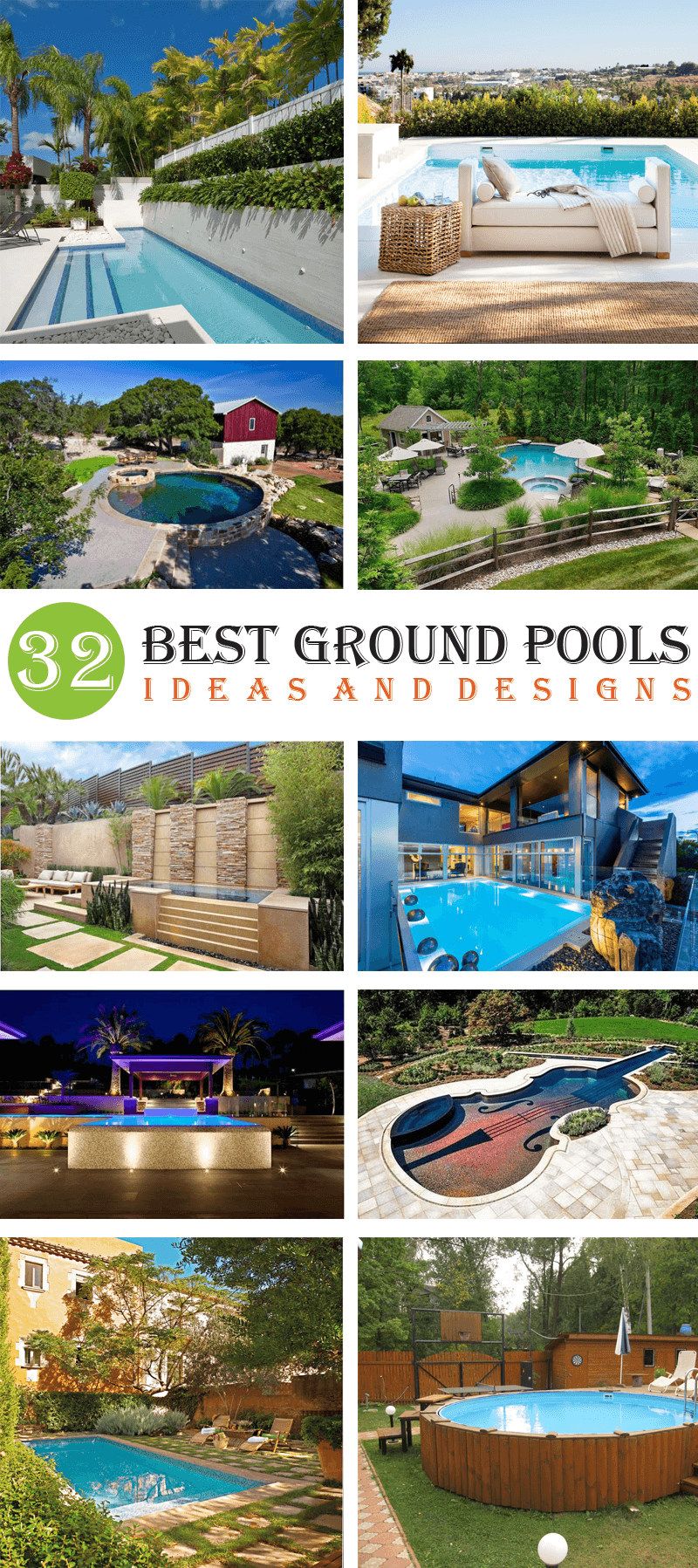 best ground pools ideas and designs