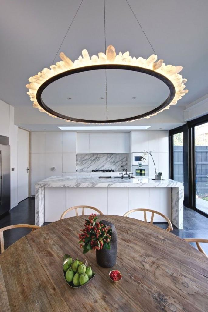 hanging chandelier for dinner table