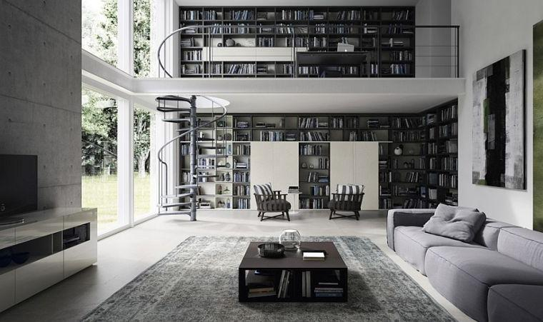 Beautiful and sophisticated two-story home library