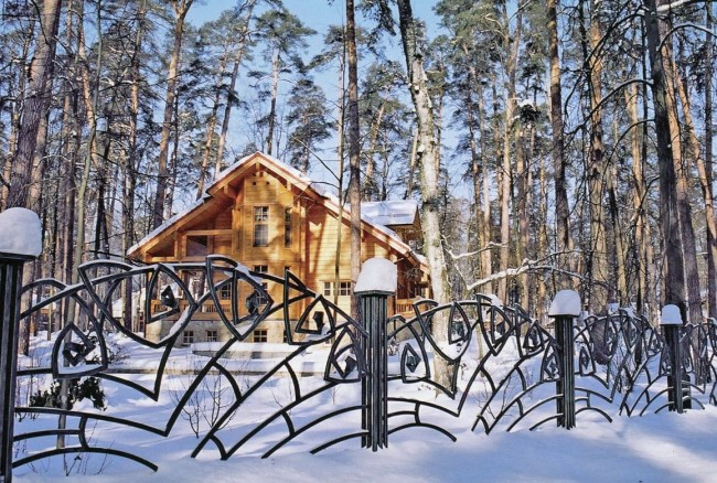 Beautiful decorative forged fence