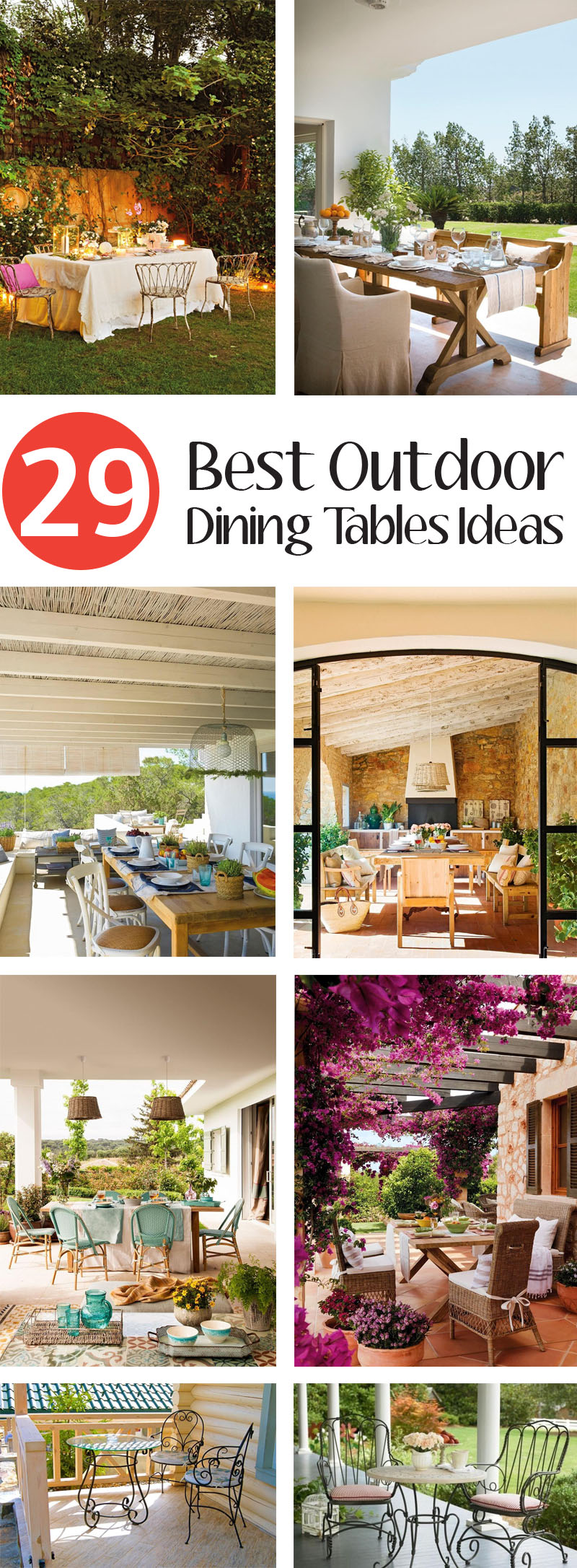 Best Outdoor Dining Tables Ideas
