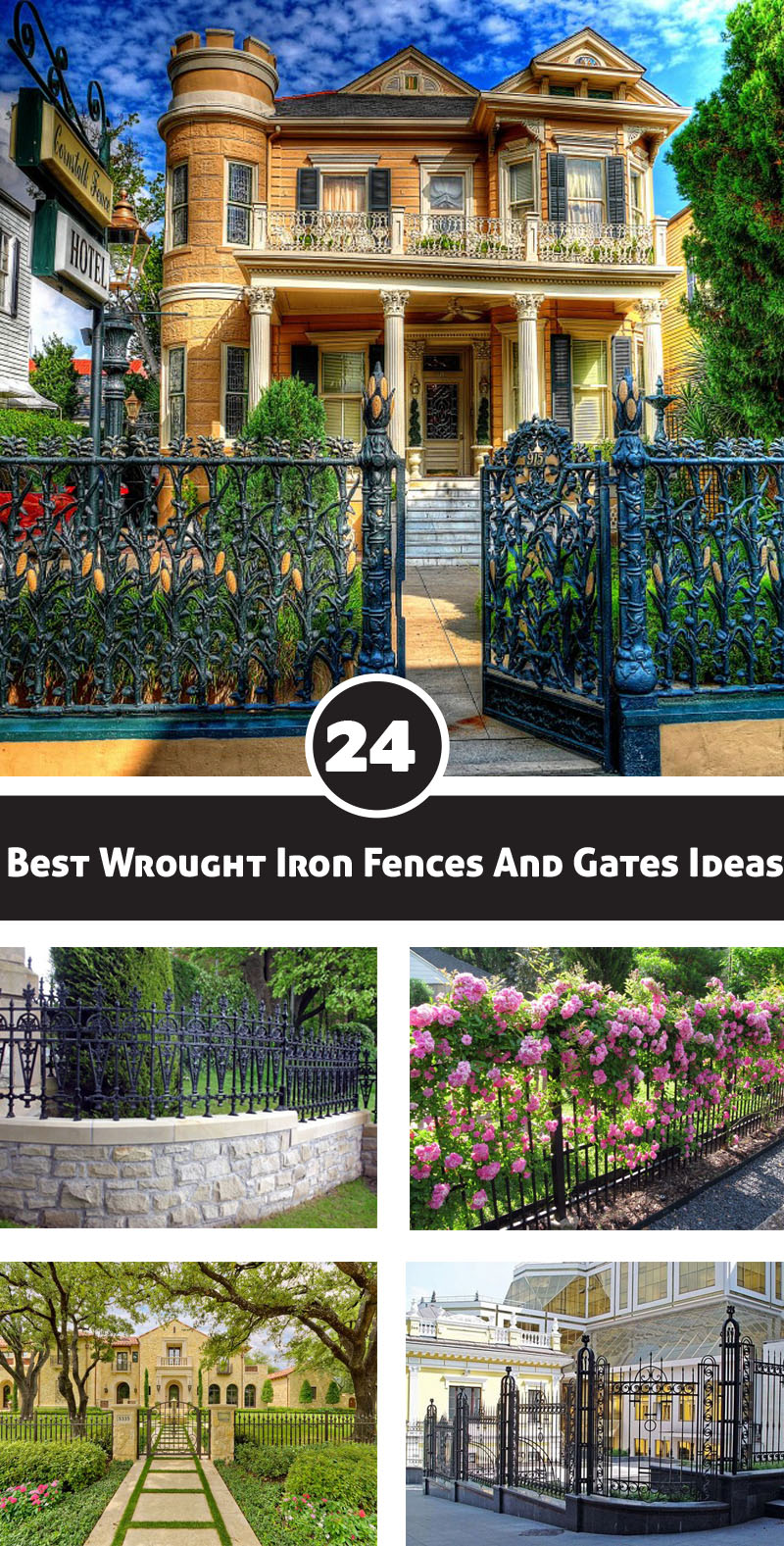 Best wrought iron fences and gates