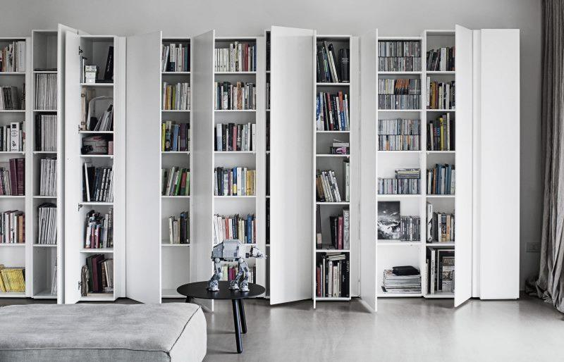 Bookcases with doors will protect books from dust and direct sunlight