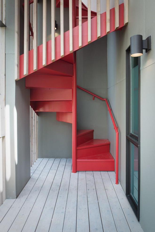 Bright and interesting retro style staircase