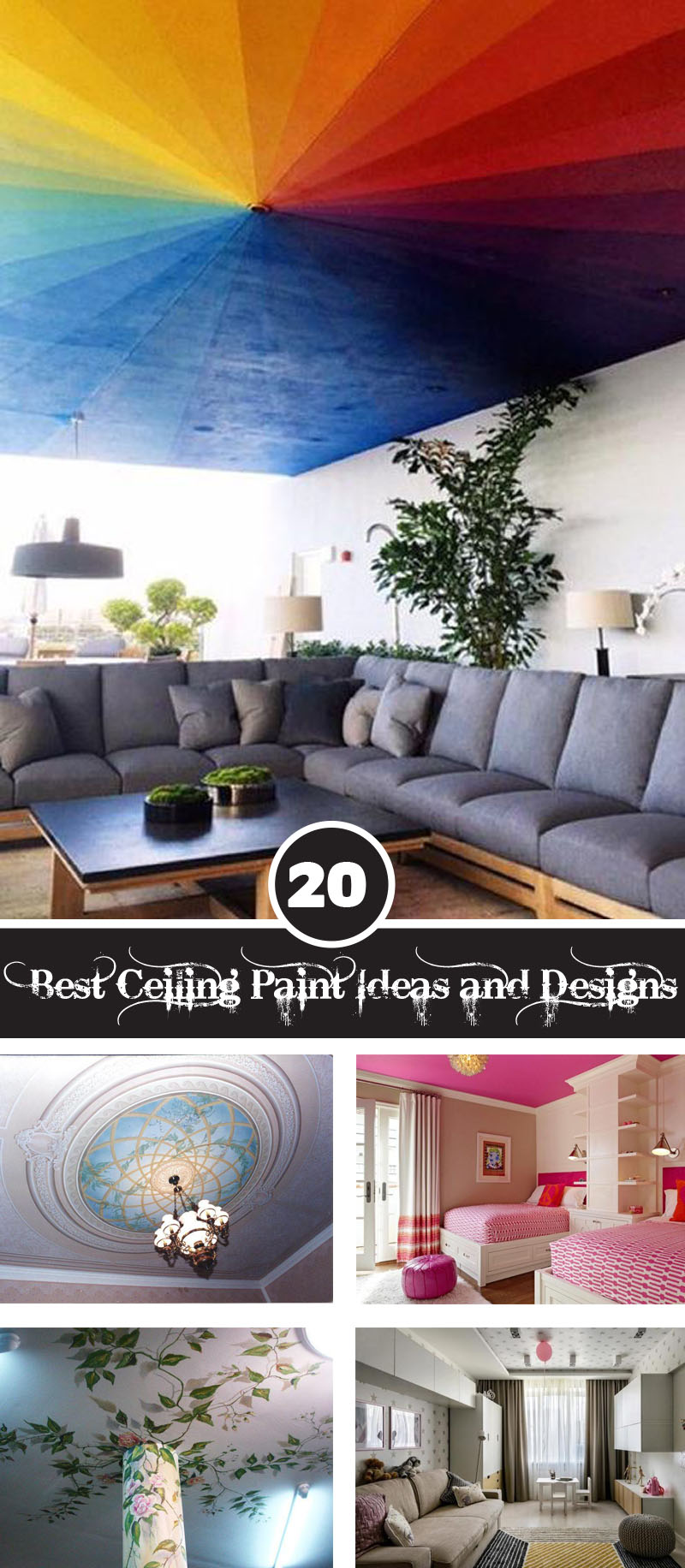 20 Easy Ways To Use Ceiling Paint In Your Home Decor ...