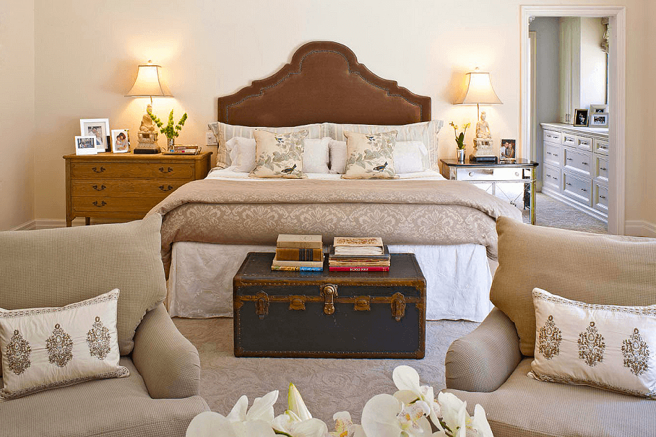 Classic chest in a traditional bedroom