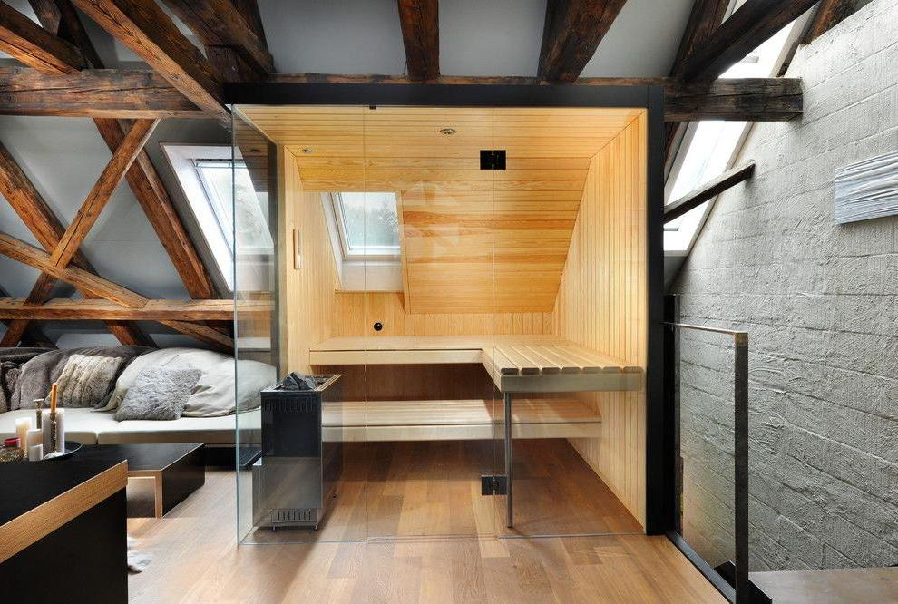 Decking in the sauna