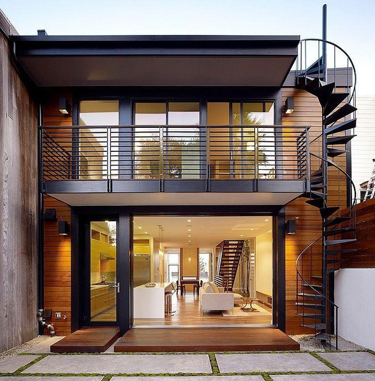 Decking is often used for exterior decoration of buildings.