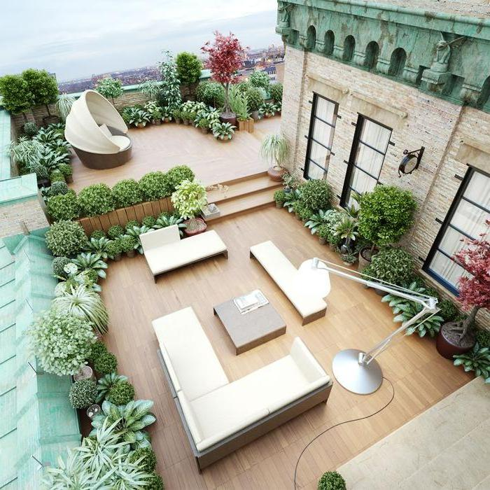 Decking is simply indispensable in arranging the terrace and veranda