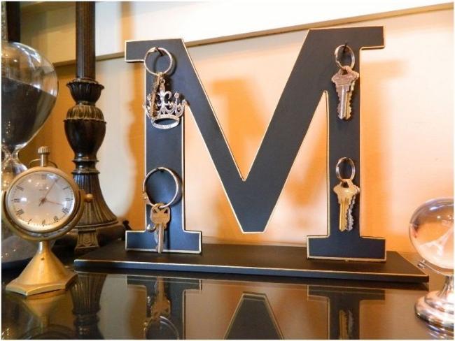 Decorative letter-key in the interior