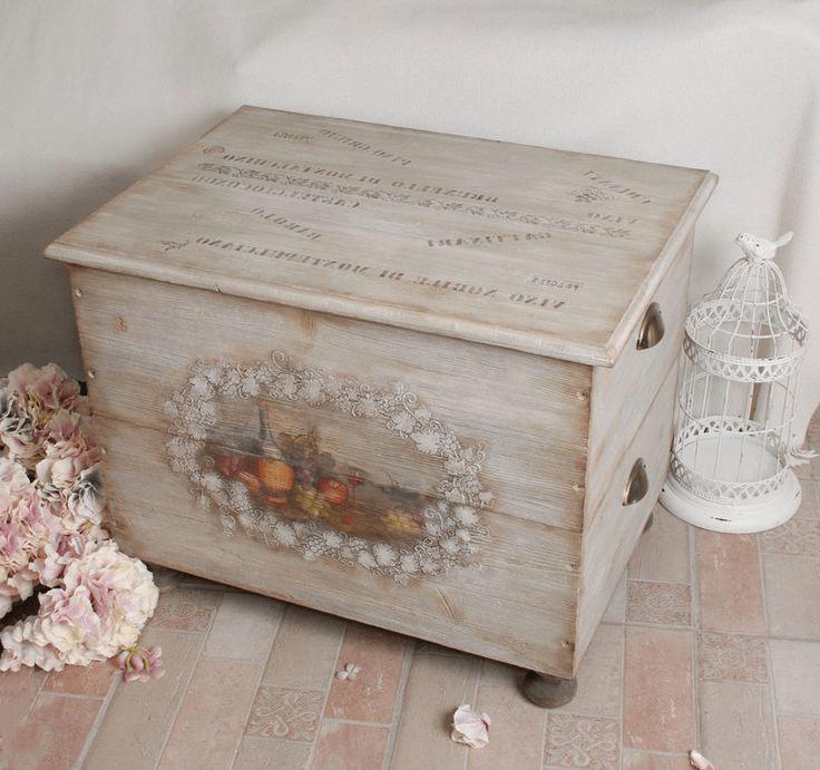 Decoupage kitchen chest