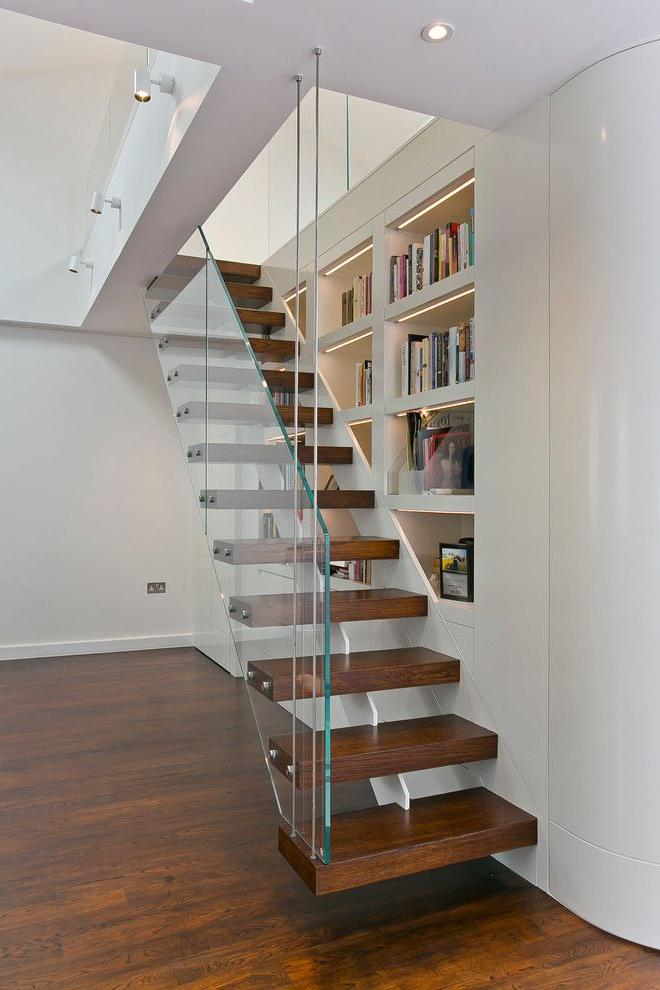 Glass fencing will help to visually increase the room